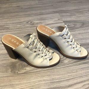 Esprit Cream Off White Mule Heel, Size 6.5